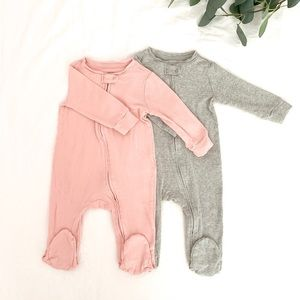 Super soft set of Two footed coveralls
